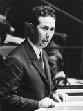 Algerian President Ahmed Ben Bella Addresses the United Nations General Assembly on Oct. 9, 1962 Photo