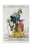 Female French Peasant Carry the Burden of the Women of the Church and Nobility, Late 18th Century Giclee Print