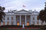 American Flag Flies at Half-Staff over the White House at Sunrise Friday, Sept. 14, 2001 Photo