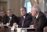 National Security Council on Sept 12, 2001, the Day Following the 9-11 Terrorist Attacks Photo