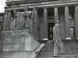 Gen. Dwight Eisenhower on the Steps of Low Library of Columbia University. May 4, 1948 Photo