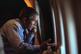 President George W. Bush on the Phone with Vice President Dick Cheney from Air Force One Photo