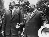 Soviet Premier Nikita Khrushchev and Egypt's President Gamal Abdel Nasser, Sept. 24, 1960 Photo