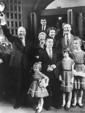 President and Mamie Eisenhower with their Son John, His Wife Barbara and Four Children Photo