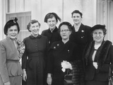 Mamie Eisenhower Members of the D.C. Star Federation of Business and Professional Women Photo