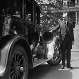 President Coolidge with a Loud-Speaker Equipped Car to Be Used in His 1924 Presidential Campaign Photo