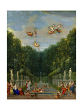 Gallery of Antique Statues and Water Fountains at Versailles Giclee Print by Jean Joubert