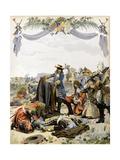 The Death of Henri De La Tour D'Auvergne, Vicomte De Turenne Giclee Print by Maurice Leloir