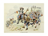 General Turenne at the Battle of the Dunes in 1658 Giclee Print by Paul Dufresne