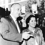 President Johnson Chats with Patricia Harris, Professor of Constitutional Law at Howard University Photo