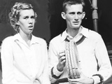 Doris Hart, 16, and Her Brother Richard at the National Singles Tennis Matches at Forest Hills, Nyc Photo