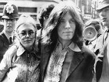 Mick Jagger and His Girl Friend, Singer Marianne Faithful Arrive at Magistrate's Court Photo