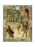 The Night Ballet, Louis XIV Dancing as Sun King Giclee Print by Maurice Leloir