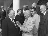 President Eisenhower Presents the National Security Medal to Fbi Director J. Edgar Hoover Photo