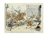 Du Guesclin Gallops Through Town During the Capture of Mantes Giclee Print by Paul de Semant