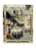 Burial of Madame Henrietta, the Funeral Oration of Bossuet Giclee Print by Maurice Leloir