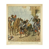 Bonaparte Fires the Cannon of Saint Roch on Day of 13 Vendemiaire Giclee Print by Louis Bombled