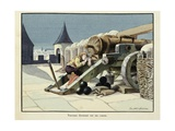 Turenne as a Child, Sleeping on a Cannon Giclee Print by Paul Dufresne