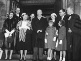Eisenhower and Nixon Families Leaving the National Presbyterian Church on Inaugural Morning Photo