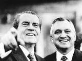 Putting Differences Aside, Walter Hinkle Welcomes President Richard Nixon to His Anchorage Home Photo