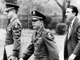 Army Lt. William Calley Arriving at His Court Martial for Leading the My Lai Massacres Fotografía