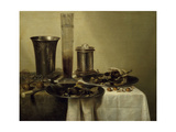 A Dessert, Previously Called Still Life with Silver Tumbler. 1637 Giclee Print by Willem Claesz Heda