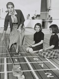 Grace Kelly by Playing Shuffleboard on the Deck of the Uss Constitution, April 10, 1956 Photo