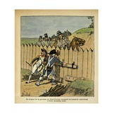 Garrison Sergeant of Saint-Georges Recognizes Austrian Hussars in French Uniforms Giclee Print by Louis Bombled