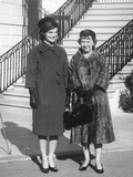 Mamie Eisenhower and Jacqueline Kennedy after the Future First Lady's Tour of the White House Photo