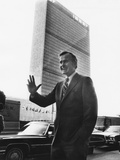 U.S. Ambassador George Bush before His Last Official Appearance at the Un on Jan. 16, 1973 Photo