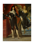 Louis XIII Crowned by Victory Giclee Print by Philippe De Champaigne