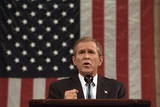 President George W. Bush Announced That 'Our War on Terror Begins with Al Qaeda Photo