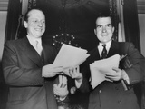 Vice President Richard Nixon and Republican Senate Majority Leader William F. Knowland Photo