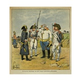 During the Italian Campaign, Bonaparte Questions an Prisoner Austrian Officer Giclee Print by Louis Bombled