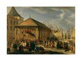 Marquis of Seignelay and Duke of Vivonne, Inspect Galleon 'Reale De France' Giclee Print by Jean-Baptiste La Rose the Elder