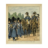 Napoleonic Wars, a Grognard Arrests an Officer Giclee Print by Louis Bombled