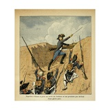 Napoleon Bonaparte Charging before His Troops Giclee Print by Louis Bombled