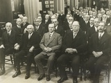President Calvin Coolidge and His Cabinet Members at the Smithsonian Institute Board Conference Photo