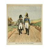 On the Way to Elba, Napoleon Meets Augereau Giclee Print by Louis Bombled