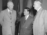 President Eisenhower and John Foster Dulles with Vietnam President Ngo Dinh Diem in the Oval Office Photo