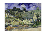 Thatched Cottages at Cordeville, Auvers-Sur-Oise, 1890 Giclee Print by Vincent van Gogh