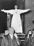 Pope Pius XII Standing before His Sedia Gestatoria, a Portable Throne Carried by Twelve Footmen Photo