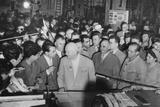 Soviet Premier Nikita Khrushchev (Center) with Workers in the Grivita Rosie Railroad Workshop Photo