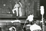 Henry Fonda Plays to an Audience of Lights and Television Cameras from the Broadway Stage Photo