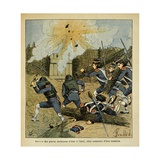 Siege of a City During the Napoleonic Wars Giclee Print by Louis Bombled