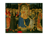 Altarpiece of Saint Jerome: Madonna and Child Enthroned with Saints Giclee Print by Zanobi Di Benedetto Strozzi