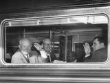 Premier Nikita Khrushchev Waving from His Train as He Leaves Washington for New York City Photo
