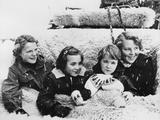 Dutch Princesses in Snow, Grindlewald, Switzerland, L-R: Irene, Marguerite, Marijke, and Beatrix Photo