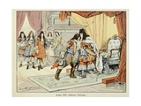 Louis XIV Kissing Marshall Turenne Giclee Print by Paul Dufresne