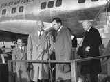 Vp Nixon Welcomes President Eisenhower to Washington after His Seven Week Hospitalization in Denver Photo